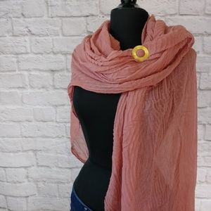 Reckless Resale Accessories - Soft Peach Crepe Blanket Scarf Wrap Head Cover